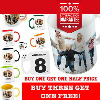 Personalised Photo Mug Cup ANY Text Or Pictures Ideal Fathers Day Gift Birthday