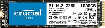 Crucial P1 1 TB 3D NAND NVMe PCIe M.2 Solid State Drive CT1000P1SSD8
