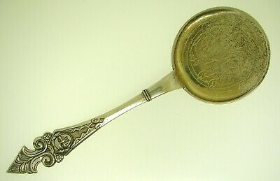 "Norway Henryk Moller 830 Silver Large Round Server - 9.5"" Long - 86 Grams"