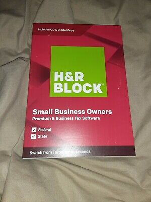 NEW H&R Block 2019 Small Business Owners Premium & Business Tax Software HR 2020