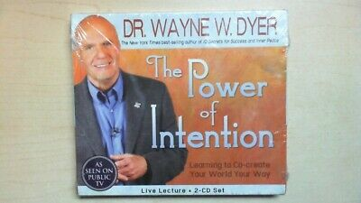 Dr. Wayne W. Dyer The Power Of Intention Live Lecture Audio Set  Sealed B2D3