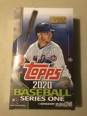 2020 Topps Series 1 Baseball Factory Sealed Hobby Box..Live on Hand!!