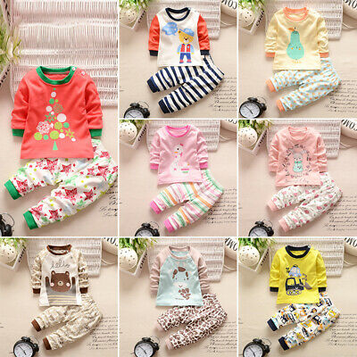 Latest Newborn Baby Girl Boy Kids Long Sleeve Warm Tops+Pants Outfits Clothes