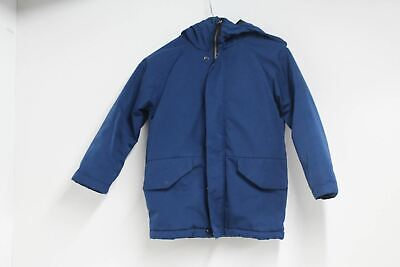 NEXT 82 Boys Zip Up Parka Jacket Hooded Lined Long Sleeved Navy Blue 6 Years