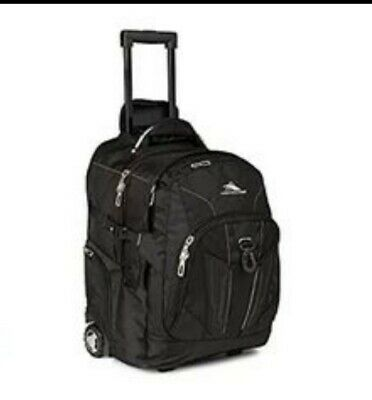 High Sierra XBT Wheeled Back Pack Black Laptop Compartment multi pockets hiking
