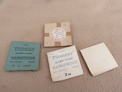 Collection Of Pioneer And Other Alarm Clock Hairsprings
