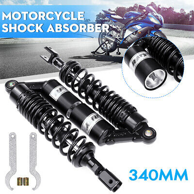 340mm Rear Air Shock Absorber Motorcycle Suspension for Honda YZF BMW Cafe Racer