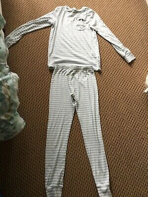 Girls grey and white pyjamas age 14 years NEXT excellent condition