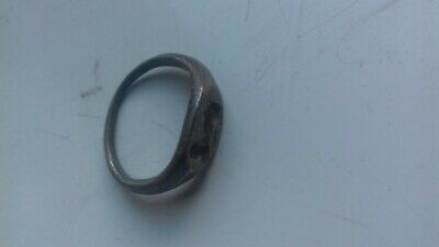 Ancient Roman Silver Ring With The God Of War Mars