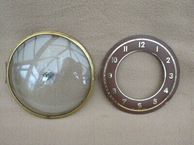 Vintage Smiths 16 Cm Clock Bezel, Glass, And Dial