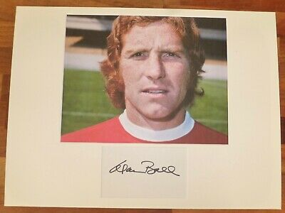 ALAN BALL-Hand Signed Card is Presented With A Photo-Mounted & Matted,COA