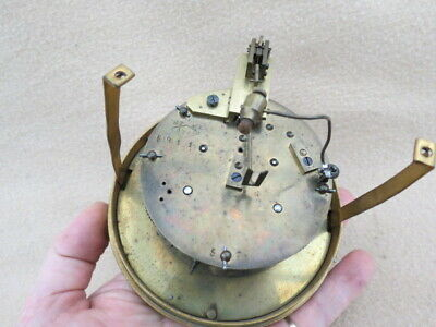 Antique French Hp & Co Striking Clock Movement, Dial, Bezel, And Glass