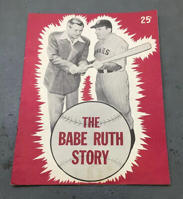 1948 The Babe Ruth Story Movie Pogram William Bendix & Ruth On Cover