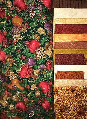 Yellow Brick Road QUILT KIT w/Christmas Colors