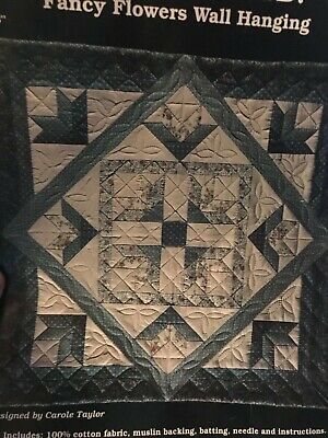 """Fancy Flowers  Wallhanging Quilt, Sew, FABRIC KIT - 28"""" x 28"""" - Vintage"""