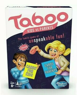 Taboo Kids vs. Parents Family Board Game from Hasbro Gaming 4+ Players 8+ Years