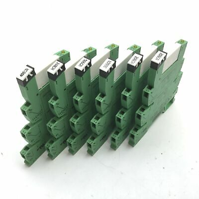 Lot of 6 Phoenix Contact 2961118 Solid State Relay with 2967183 Socket