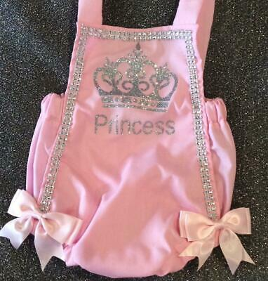 BNWT Romany Spanish Bling Baby Girls' Personalised Princess Romper *Any Size*
