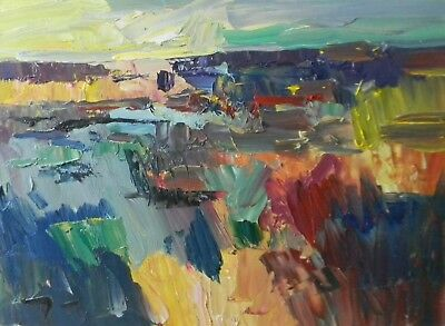 JOSE TRUJILLO ART Oil Painting Expressionist Impressionism Palette Knife Impasto