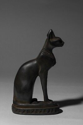 ANCIENT EGYPT EGYPTIAN BASTET Antiques GODS CAT Ubasti PHARAOH Carved STONE BC