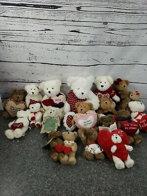 Boyds Bears Plush Lot Of 18 NEW W Tags Mothers Day Love Valentine Some Retired B