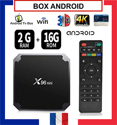 X96 MINI BOX ANDROID 4K SMART TV S905W Quad Core H.265 WiFi 2GB/16GB 1GB/8GB