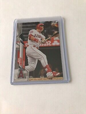 2020 Topps Mike Trout Reverse Image Photo Variation Ssp Code 78 Very Rare Card
