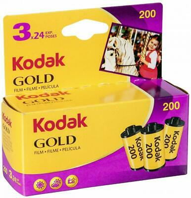 Kodak 6033971 Gold 200 Film (Purple/Yellow) - 3 Rolls - 24 Exposures Per Roll …