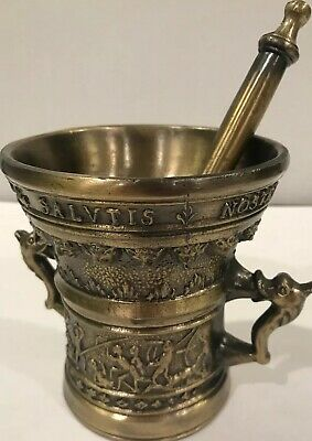 Decorative Solid Brass Mortar And Pestle