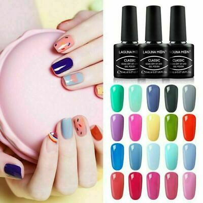 Soak Off Colour Gel Nail Polish Lacquer Varnish Manicure Top Base Coat UV LED
