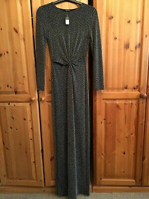 New/Tags River Island Long Evening-Party-Cocktail Dress Size Uk 10