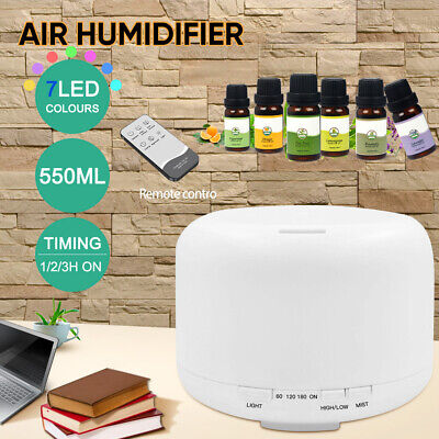 300/ 500ml Essential Oil Aroma Diffuser LED Ultrasonic Air Mist Aromatherapy