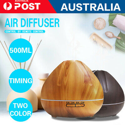 LED 500ml Air Humidifier Purifier Essential Oil Aroma Diffuser Aromatherapy Lamp
