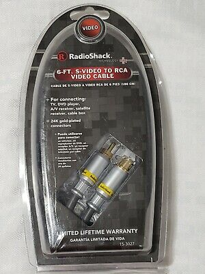 Radioshack 6 ft S-Video to RCA Video Cable