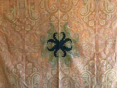 Beautiful Antique 19th Cent. French Wool Woven Paisley Fabric  (3023)