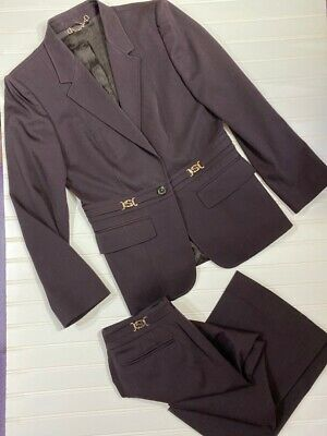 Vintage Gucci  suit GG jacket and pants trousers I 46 fits small