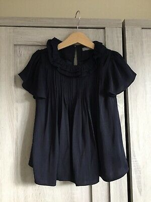 Next Girls Blouse - Age 6 - Navy Blue - Great Condition