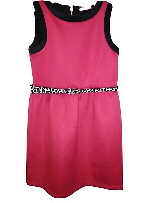 Bnwt Primark Young Dimension Girls pink Dress And Belt 10-11 Years