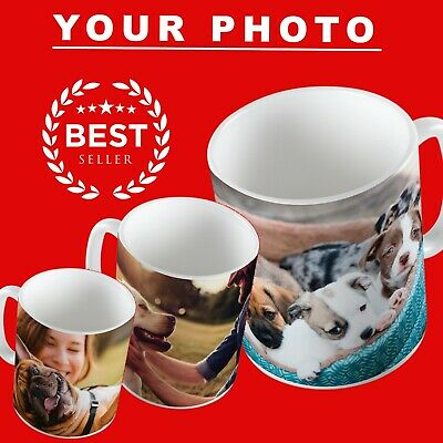 Personalised Photo Pet Mug Custom Cup Text Image Name Logo Birthday Mothers Day