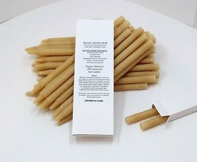 8 X (4 Pairs) Organic High Quality *Earwax** Candles Cylinder Hollow Beeswax Soy