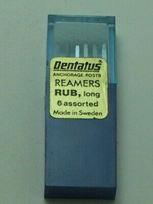 Dentatus Dental Post Reamers Long Assorted Size 1-6 RUB for Surtex,Aztec,Luminex