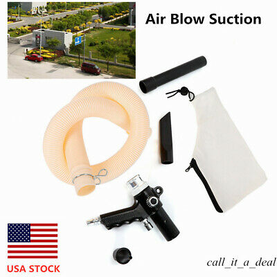 Air-Operated Duster Collector Pneumatic Vacuum Air Blow Dust Sunction Tool USA