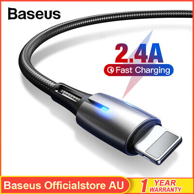 Baseus USB Lightning Charging Cable Data Charger Cord for iPhone 8 XR XS 11 Pro