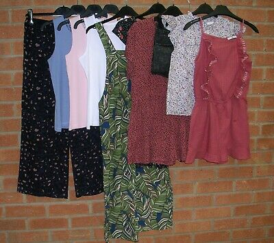 Mainly NEXT Girls Summer Bundle Dress Playsuit Shorts Tops Age 10-11 146cm