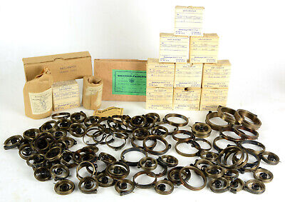Antique clock main springs 190 pcs new old stock for clockmaker spares horology
