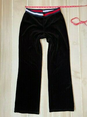 Women's   Tommy Hilfiger Jeans  Black  Velour Pants Size Medium