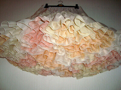 MADE TO ORDER Ivory Peach Rainbow Bridal Rock & Roll Dance Petticoat