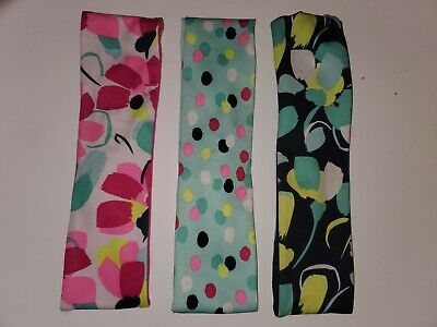 Gymboree Gymgo Activewear 3pc stretchy headbands EUC girl hair accessories