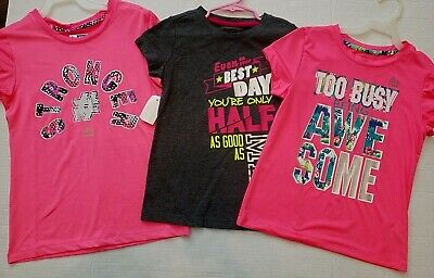 3 RBX girls  Sports Gym Ball Shirt tops 6x 7 8  nwt stronger RBX Nice Lot