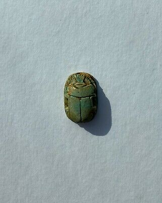 Antique Egyptian Egypt Scarab Beetle Amulet Seal Made Of Stone 1""